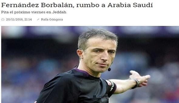 صحيفة إسبانية: حكم ديربي مدريد يقود كلاسيكو الأهلي والهلال