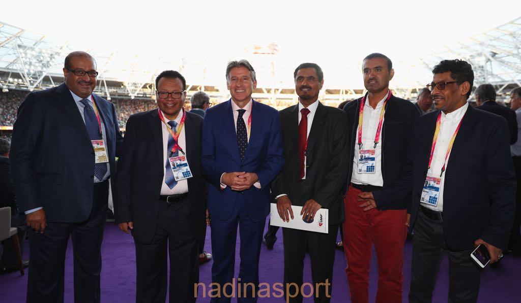 رئيس الاتحاد الدولي لألعاب القوى يكرم الزايدي