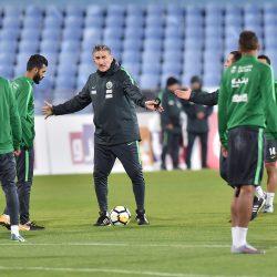 الأخضر يختتم استعداداته لمواجهة بلغاريا