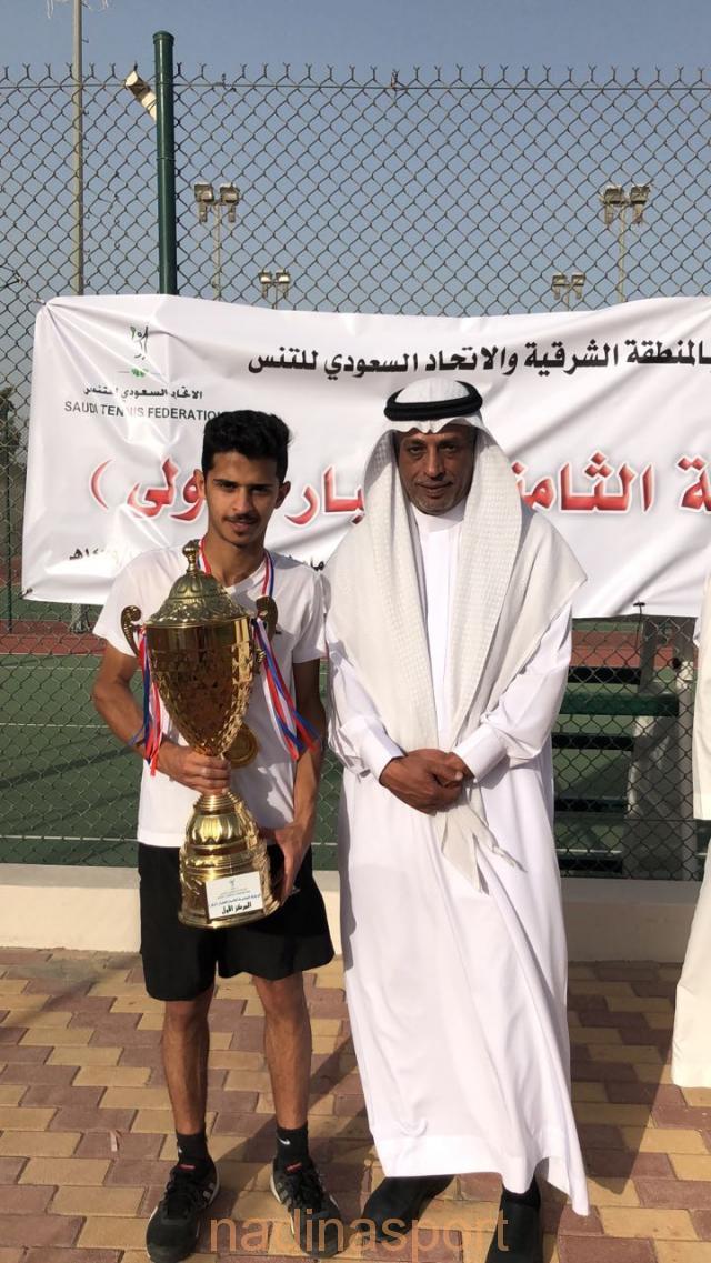 """""""عبدالرحمن العزام"""" بطلاً لبطولة المملكة المفتوحة للتنس"""