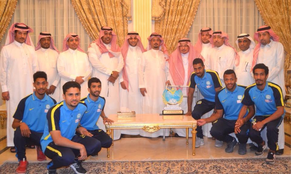 بمناسبة الصعود لدوري الأمير محمد بن سلمان … ممثلي نادي الجيل في زيارة خاصة للحماد