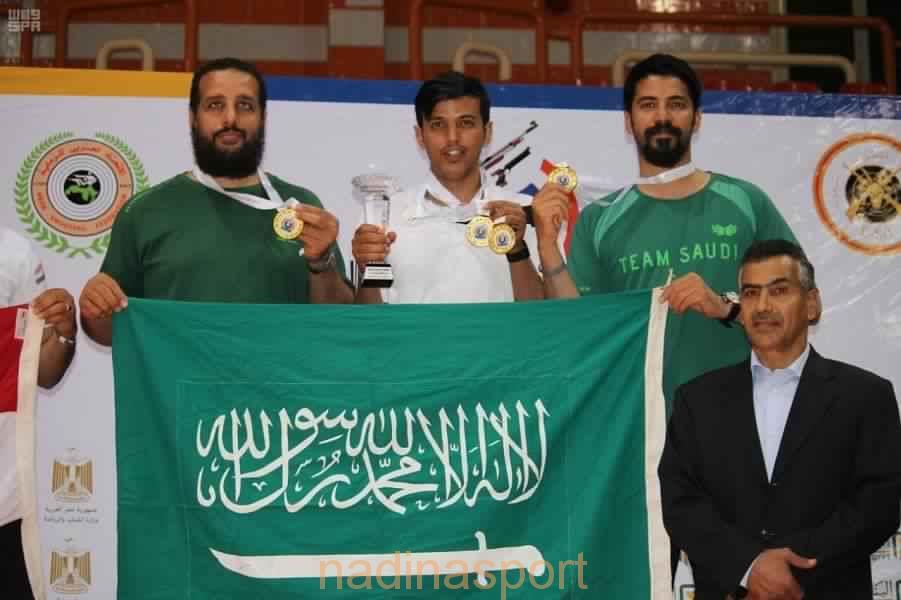المنتخب السعودي يحقق ذهبية الفردي والجماعي في البطولة العربية للرماية