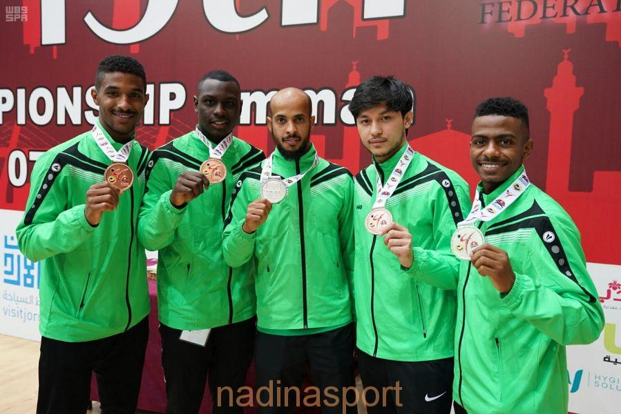 أخضر الكاراتيه يواصل تألقه ويحقق خمس ميداليات آسيوية