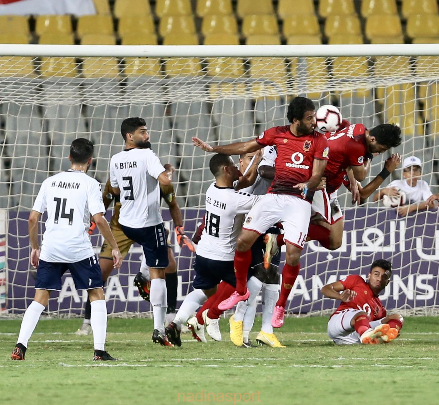 تعادل مباراة الأهلي المصري والنجمة اللبناني في البطوله العربيه
