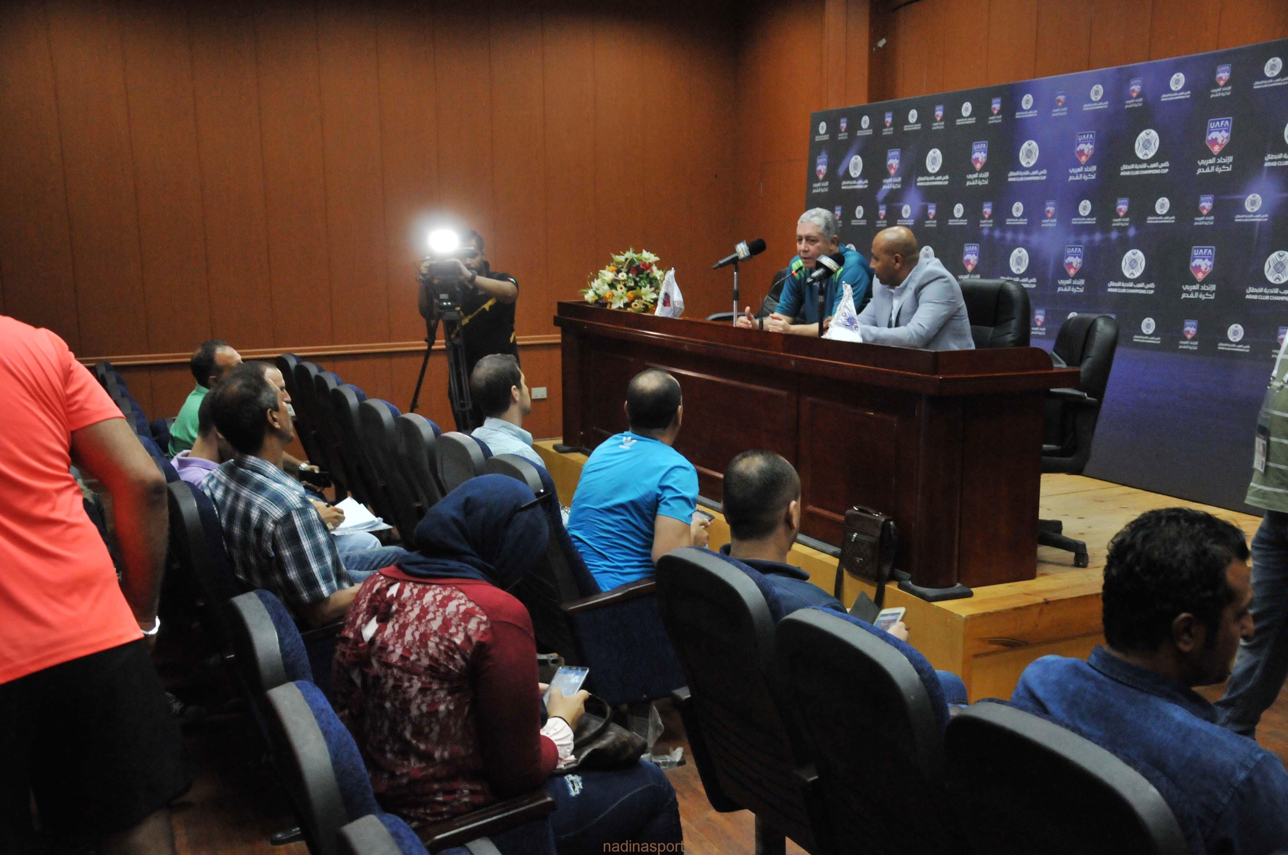المؤتمر الصحفي لمباراة اتحاد السكندري المصري والترجي التونسي