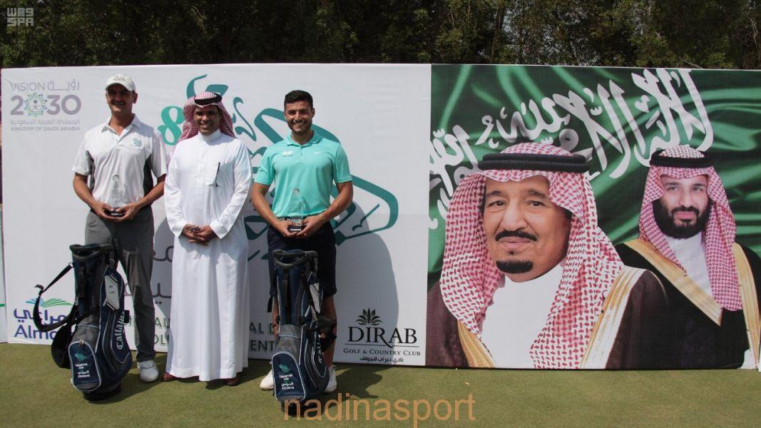 """الأمير خالد بن سعود الفيصل وفيصل سلهب بطلا """"بطولة اليوم الوطني للجولف"""""""