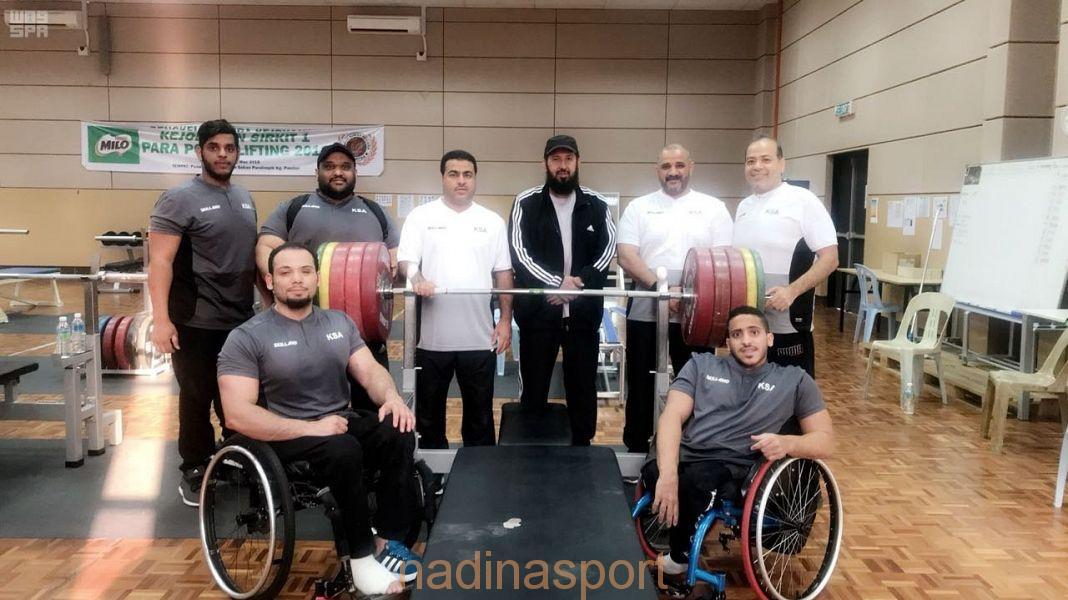 """المنتخب السعودي لرفع الأثقال لذوي الإعاقة الحركية يواصل استعداداته للمشاركة في دورة الألعاب الآسيوية """"جاكرتا 2018 """""""