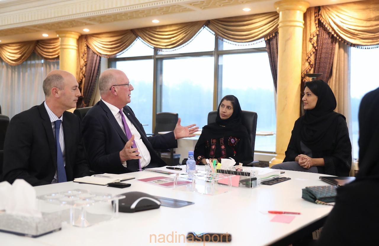 الأميرة ريما بنت بندر تستقبل رئيس جامعة لوفبورد البريطانية