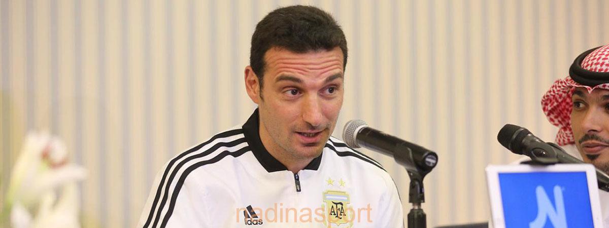 مدرب الأرجنتين: نشكر المملكة على حسن الاستقبال والضيافة