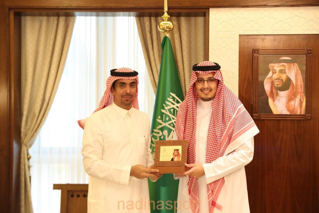 الأمير أحمد بن فهد بن سلمان يستقبل رئيس اتحاد الرياضات اللاسلكية