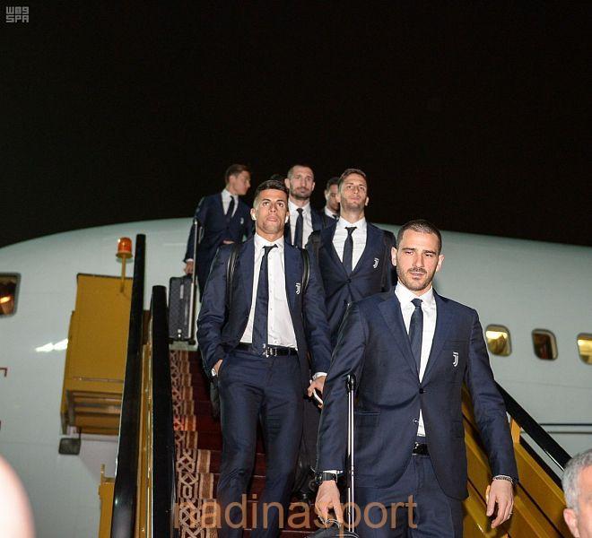 فريق يوفنتوس يصل إلى جدة استعداداً لكأس السوبر الإيطالي