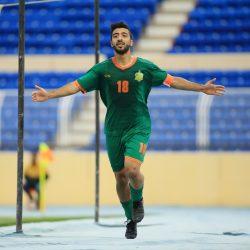 فرحة أحمد العكروش بالهدف الثاني