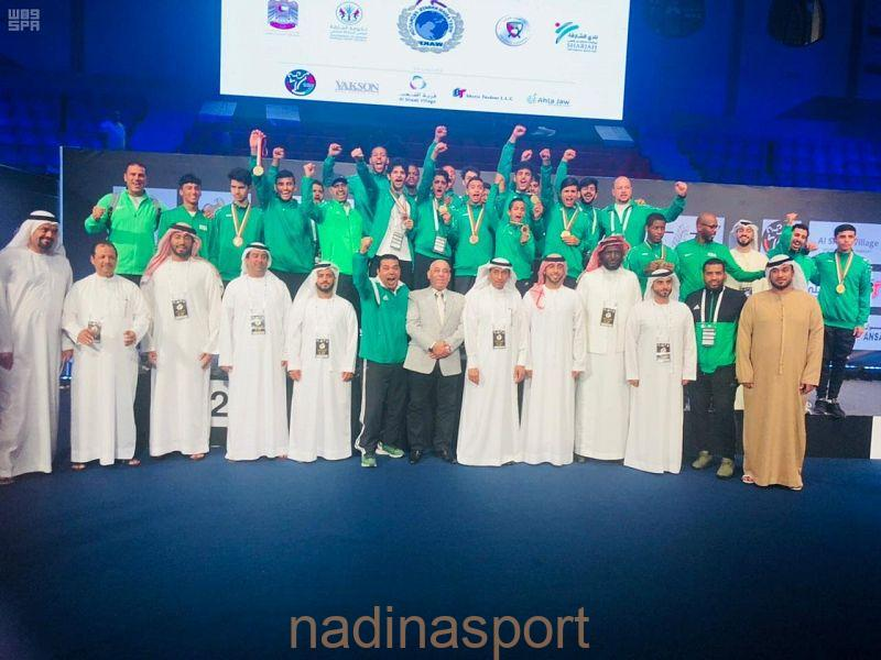 أخضر الكاراتيه يحقق 13 ميدالية في بداية مشواره ببطولة غرب آسيا في الشارقة