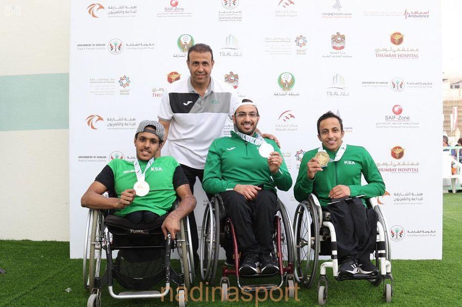 6 ميداليات سعودية في دورة الألعاب العالمية لذوي الإعاقة الحركية والبتر بالشارقة
