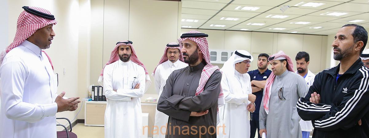 رئيس الاتحاد السعودي يزور مختبرات كلية علوم الرياضة والنشاط البدني