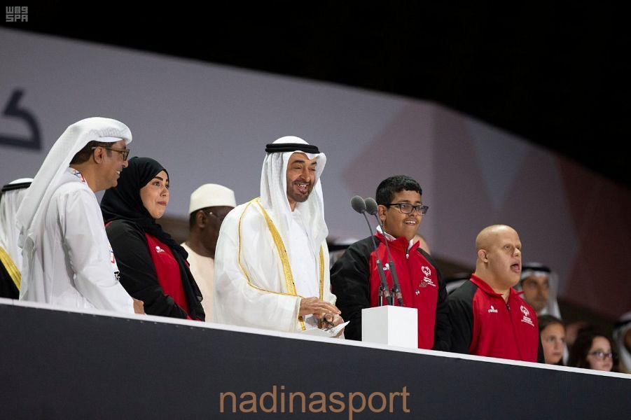 ولي عهد أبو ظبي يفتتح دورة الألعاب العالمية للأولمبياد الخاص