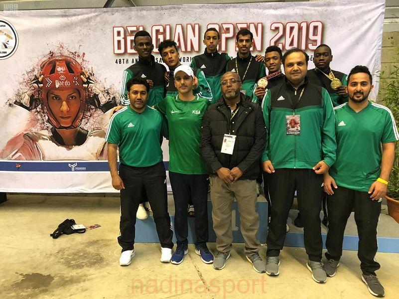 لاعب أخضر التايكوندو علي المبروك يحقق ذهبية بطولة بلجيكا الدولية
