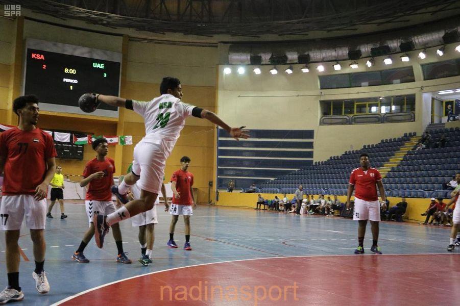 المنتخب السعودي يحقق فوزه الرابع في منافسات كرة اليد في البطولة العربية المدرسية