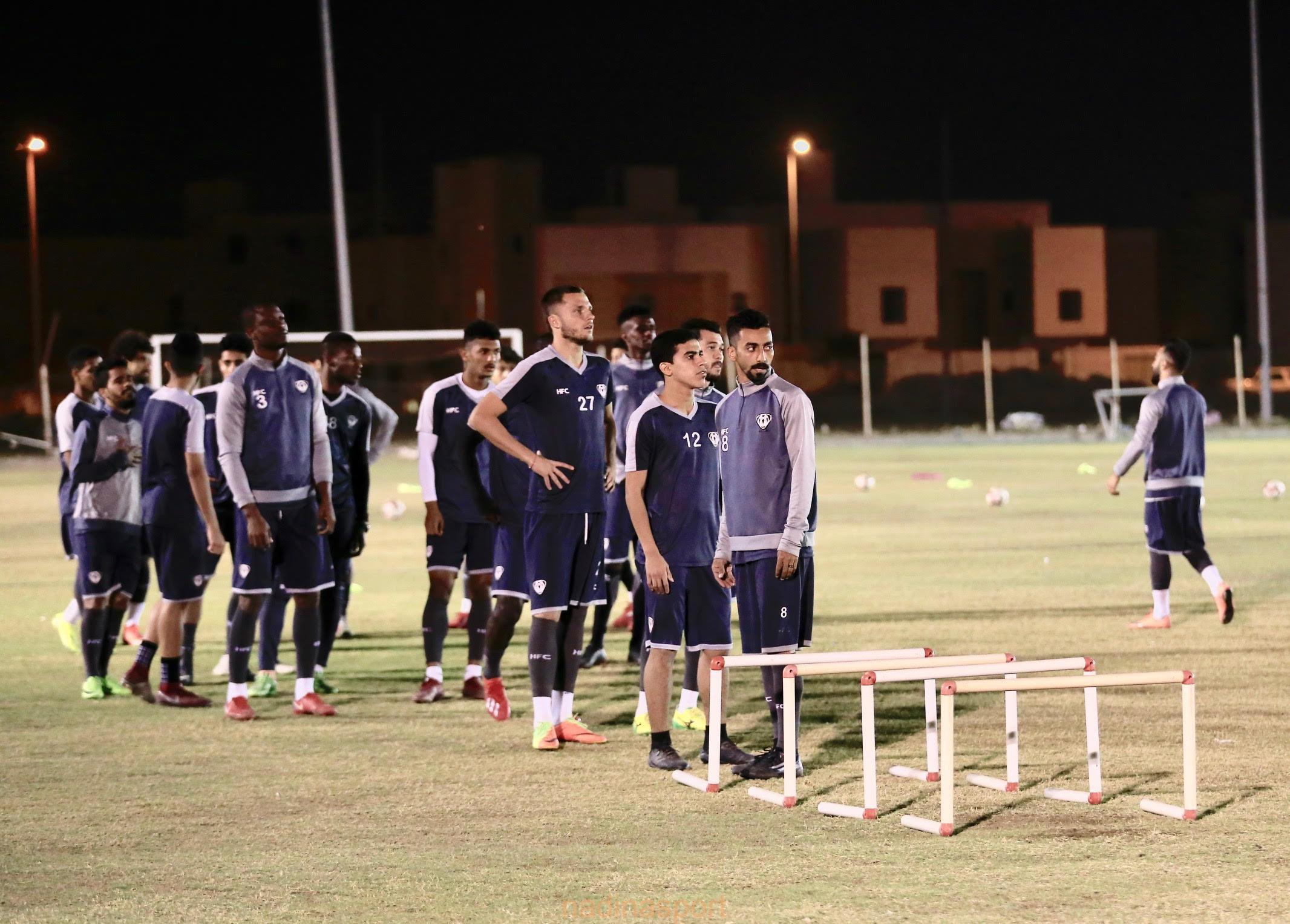#هجر  يجرى مرانه الرئيسي استعداداً لمباراته المقبلة أمام النهضة