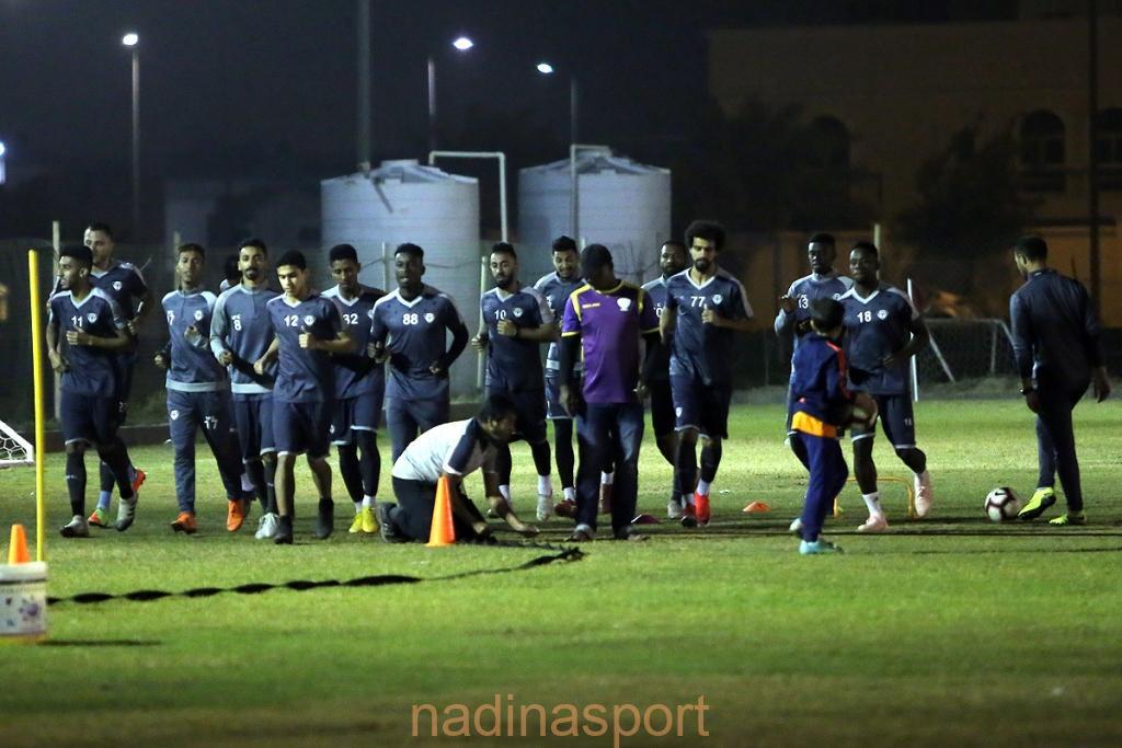 #هجر يعاود تدريباته اليومية على ملعب النادي وذلك بعد الراحة