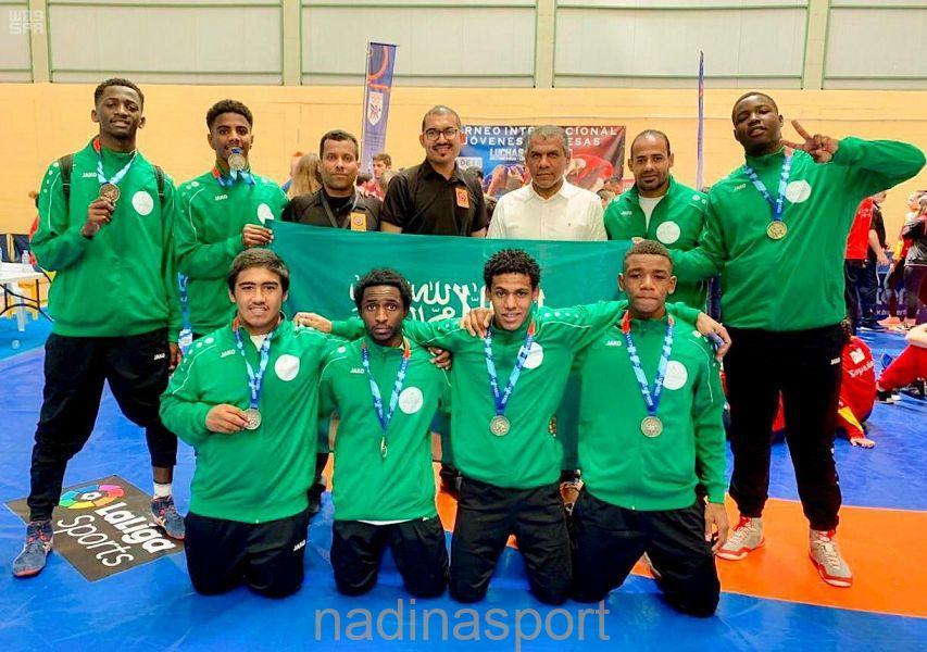 المنتخب السعودي يحقق المركز الثاني في بطولة إسبانيا الدولية للمصارعة