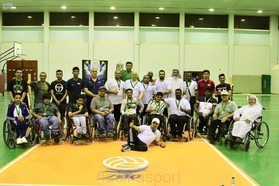 اختتام منافسات بطولة كرة الطائرة لذوي الإعاقة الحركية بجامعة الملك سعود