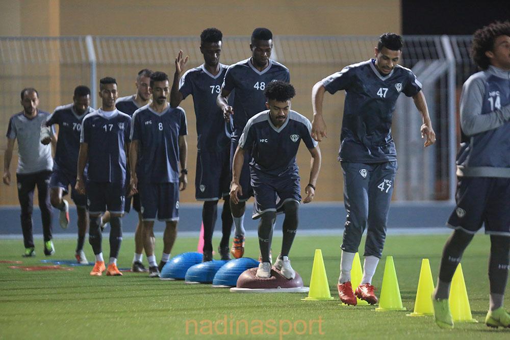 هجر يواصل مرانه الرئيسي استعداداً لمباراته المقبلة أمام ضمك