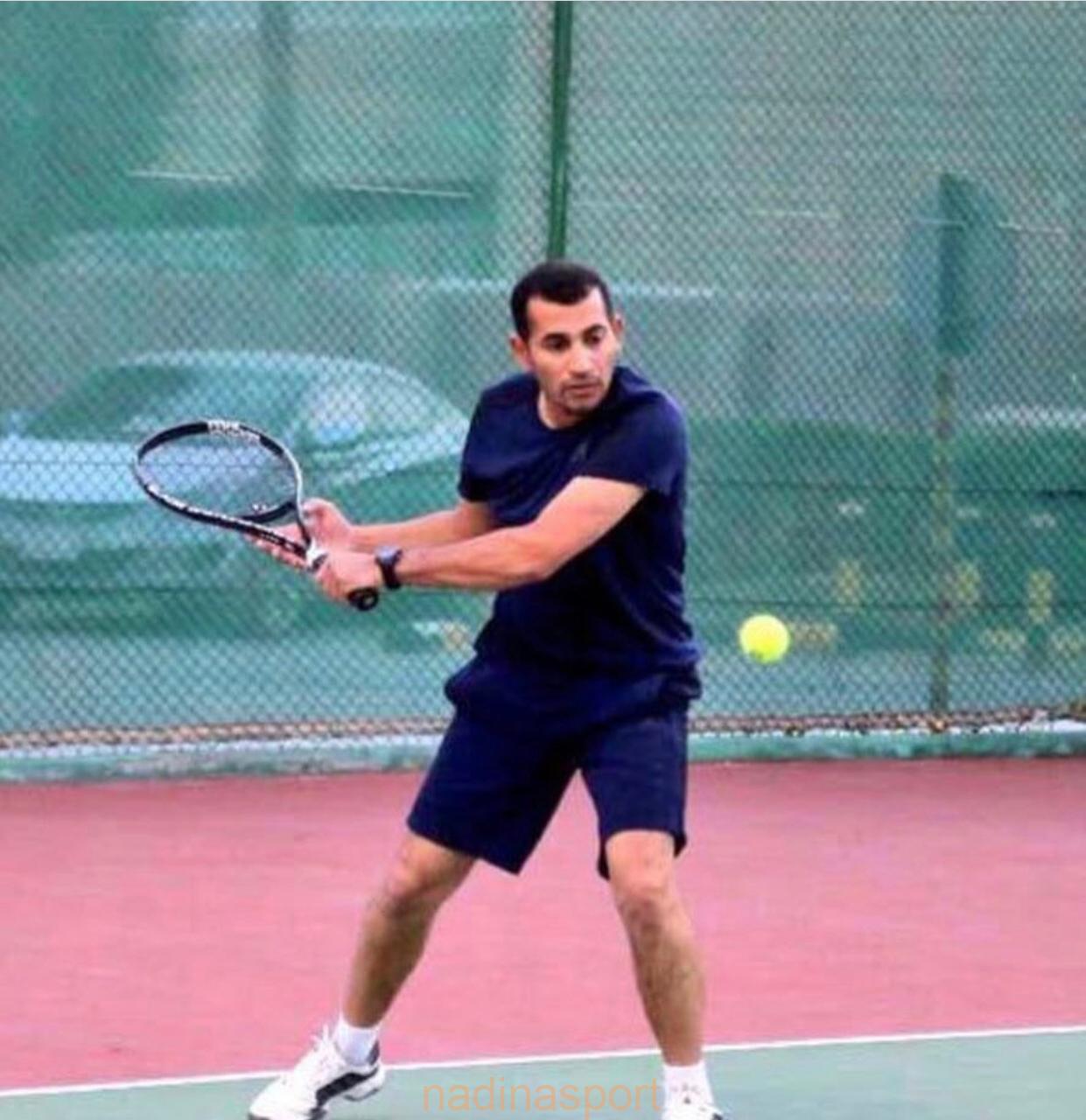 """المدرب""""الجزيري""""بطل رواد العرب لكرة التنس الارضي بالأردن"""