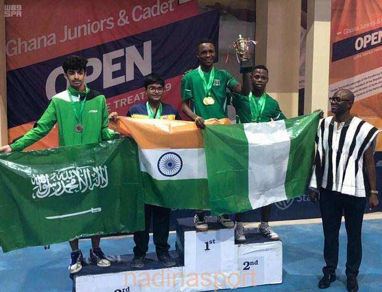 4 ميداليات برونزية لأخضر كرة الطاولة في بطولة غانا الدولية