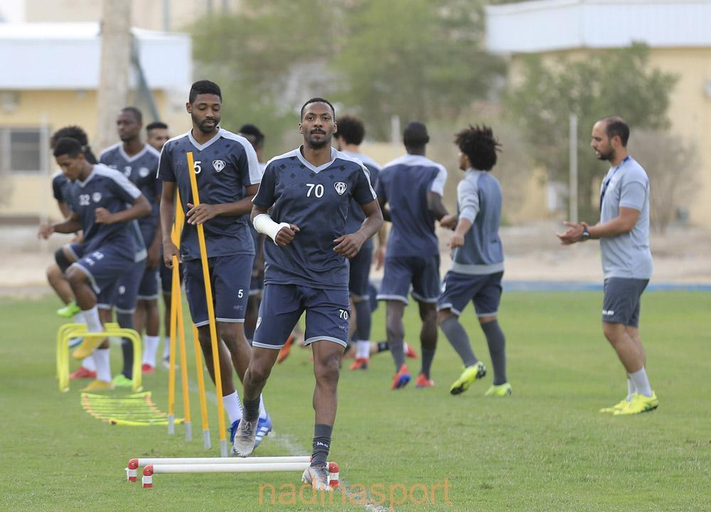 هجر يجري مرانه الرئيسي استعداداً لمباراته المقبلة أمام القيصومة