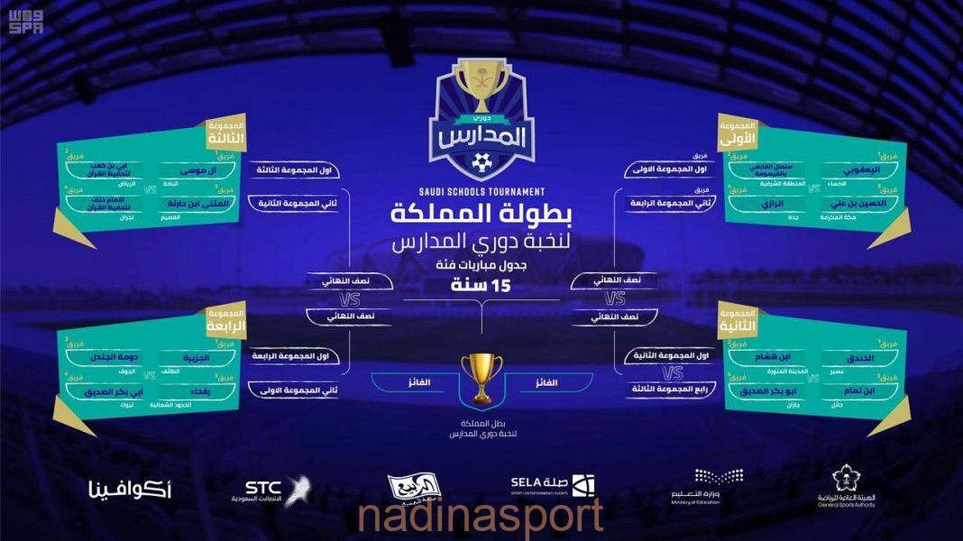 """32 فريقاً يتنافسون على """"كأس النخبة"""" في بطولة المملكة لنخبة دوري المدارس"""