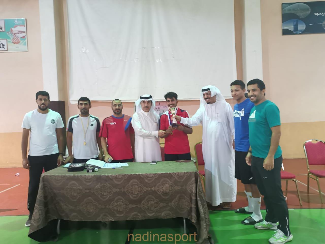 ختام بطولة  تنس الطاولة  في الاولمبياد الرياضي لأندية الأحياء بالأحساء