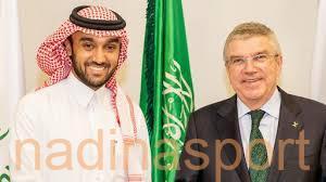 سمو الأمير عبدالعزيز بن تركي يعقد اجتماعاً مع رئيس اللجنة الأولمبية الدولية توماس باخ