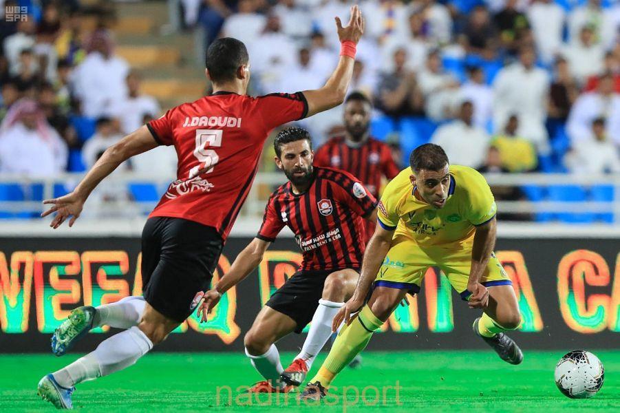 بهدفين النصر يظفر بنقاط الرائد في الجولة السابعة من دوري كأس الأمير محمد بن سلمان للمحترفين