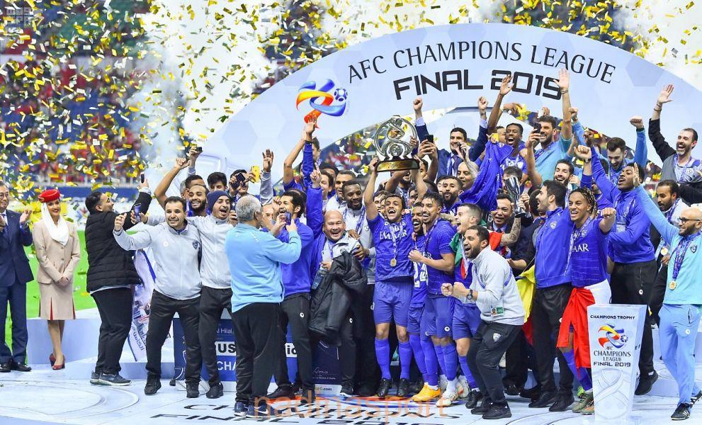 الهلال السعودي يتوج بكأس دوري أبطال آسيا لكرة القدم