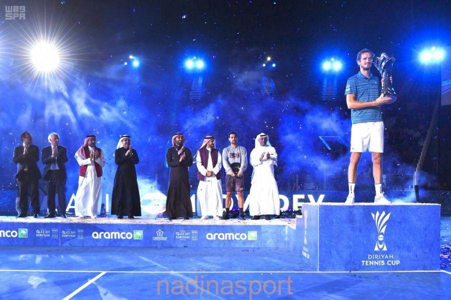 """الروسي """"ميدفيديف"""" بطلاً للنسخة الأولى من كأس الدرعية للتنس"""