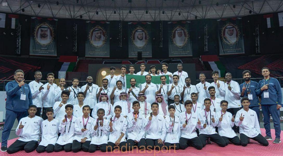 المنتخب السعودي للتايكوندو يحقق المركز الأول في بطولة العرب