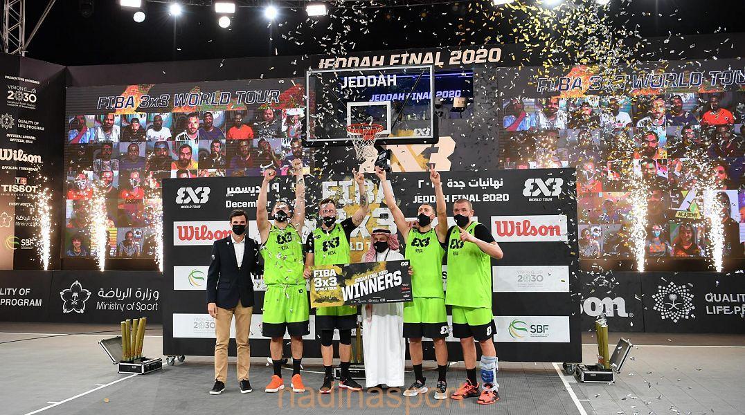 سمو وزير الرياضة يؤكد نجاح المملكة في استضافة وتنظيم مختلف البطولات العالمية. وريجا بطل للعالم لكرة السلة 3×3